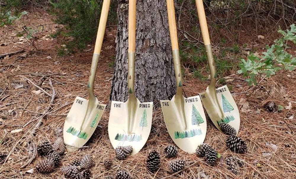 The Pines Ground breaking shovels