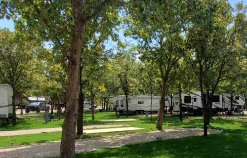 Wooded RV Sites with Large yards